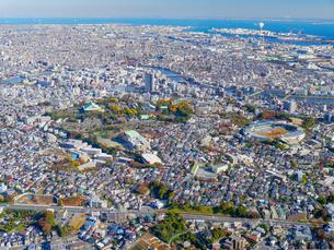 横浜の街並み空撮の写真素材 [FYI04606695]