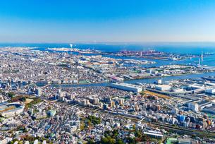 横浜の街並み空撮の写真素材 [FYI04606696]