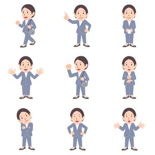 ビジネス キャラクター「ベテランのビジネスウーマン(2)」ソフトな色調 カット集のイラスト素材 [FYI04606780]