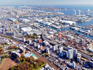 横浜の街並み空撮の写真素材 [FYI04606805]