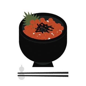 いくら丼のイラスト素材 [FYI04606854]