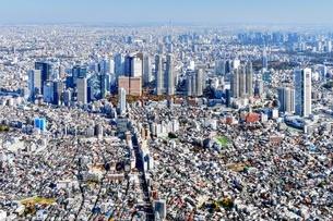 東京の街並み空撮の写真素材 [FYI04606896]
