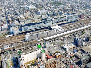 京都の街並み空撮の写真素材 [FYI04606916]