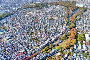 東京の街並み空撮の写真素材 [FYI04606932]