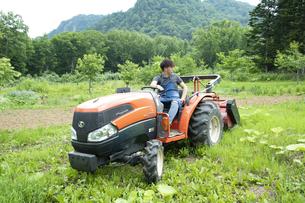 農作業する若い男性の写真素材 [FYI04607386]