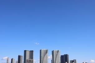 東京湾より開発が進む晴海地区を望むの写真素材 [FYI04607623]