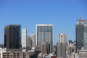 開発が進む港区の高層ビル群の写真素材 [FYI04607639]
