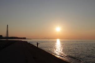 深日港の夕暮れの写真素材 [FYI04607686]
