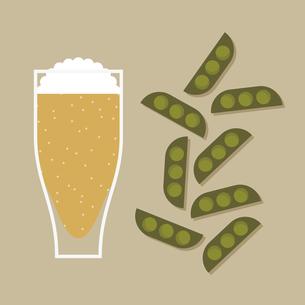 ビールと枝豆のイラスト素材 [FYI04607830]