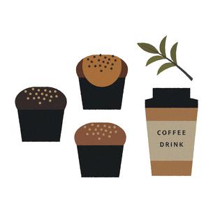 マフィンとコーヒーのイラスト素材 [FYI04607865]