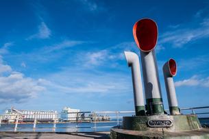 博多埠頭の風景の写真素材 [FYI04608276]