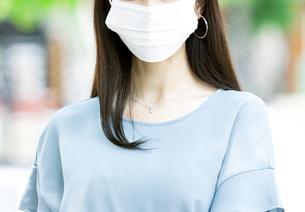 マスクをしている女性の写真素材 [FYI04608470]