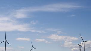 風車と空の写真素材 [FYI04608525]