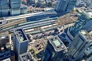 東京の街並み空撮の写真素材 [FYI04608653]