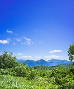 北海道 自然 風景 洞爺湖の写真素材 [FYI04608761]