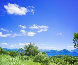 北海道 自然 風景 洞爺湖の写真素材 [FYI04608763]