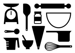 お菓子作りの道具のイラスト素材 [FYI04609092]
