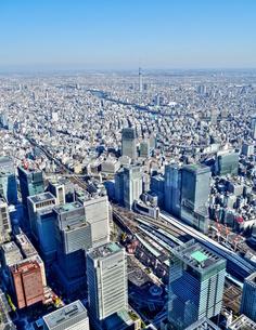 東京の街並み空撮の写真素材 [FYI04609332]