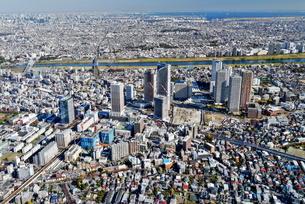 川崎の風景空撮の写真素材 [FYI04609333]