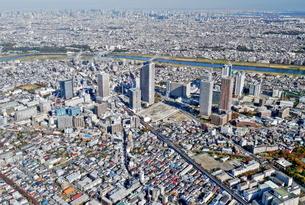 川崎の風景空撮の写真素材 [FYI04609334]