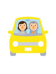イラスト素材 ドライブ(1‐3) 女性と高齢女性のイラスト素材 [FYI04610125]