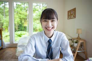 女子高生のポートレートの写真素材 [FYI04610647]