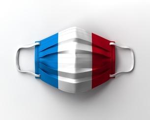 フランス国旗のマスクのイラスト素材 [FYI04611237]