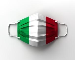 イタリア国旗のマスクのイラスト素材 [FYI04611238]