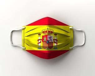 スペイン国旗のマスクのイラスト素材 [FYI04611239]