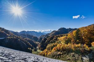 長野県 南相木ダムの紅葉の写真素材 [FYI04611490]
