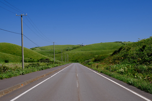 礼文島の道の写真素材 [FYI04611549]