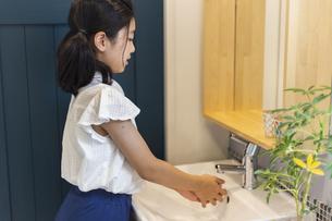 手洗いする女の子の写真素材 [FYI04611766]
