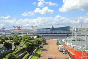 東京国際クルーズターミナルと東京港の風景の写真素材 [FYI04612134]