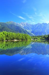 夏の上高地 大正池と穂高連峰の写真素材 [FYI04612304]