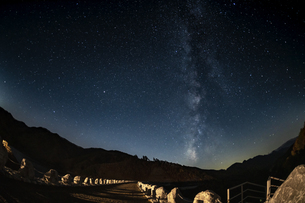 長野県 南相木ダムの星空の写真素材 [FYI04612359]