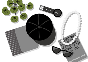 服飾雑貨(黒)のイラスト素材 [FYI04612378]