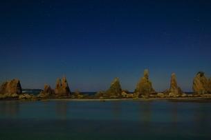 橋杭岩の夜景の写真素材 [FYI04612637]