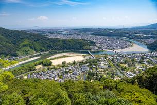 岩国城からの眺望の写真素材 [FYI04612684]