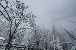 秩父 浦山ダムの雪景色の写真素材 [FYI04613381]