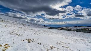 霧ヶ峰 車山肩 雪景色の写真素材 [FYI04613390]