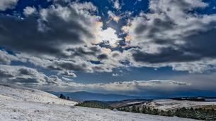 霧ヶ峰 車山肩 雪景色の写真素材 [FYI04613392]