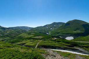 北海道 黒岳山頂周辺の夏の風景の写真素材 [FYI04613496]