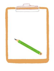 茶色いバインダーと鉛筆 のイラスト素材 [FYI04613960]