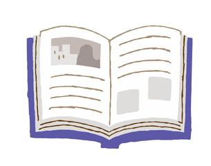 開いた本のイラスト素材 [FYI04613971]