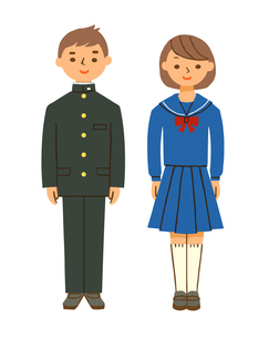 学生服 詰襟とセーラー服のイラスト素材 [FYI04613986]