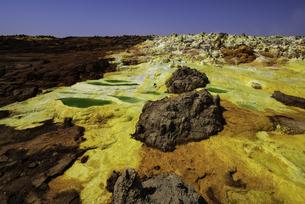 ダロール火山の絶景(ダナキル砂漠、エチオピア)の写真素材 [FYI04614058]