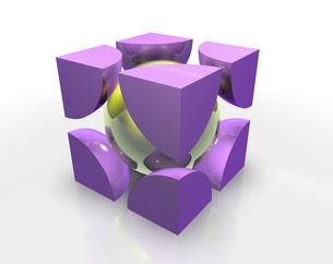 立方格子のイラスト素材 [FYI04614185]