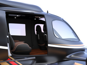 空飛ぶタクシーのインテリアイメージの写真素材 [FYI04614371]