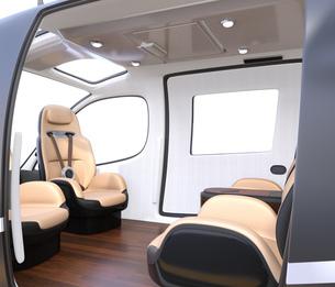 空飛ぶタクシーのインテリアイメージの写真素材 [FYI04614372]