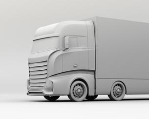 大型電動トラックのクレイレンダリングイメージの写真素材 [FYI04614528]